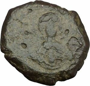 ANDRONICUS I COMNENUS 1183AD ANCIENT BYZANTINE COIN MARY BABY CHRIST I38035