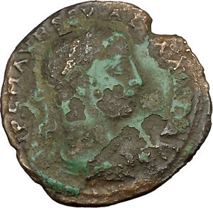 SEVERUS ALEXANDER 222AD DEULTUM THRACE TYCHE LUCK ANCIENT ROMAN COIN I38169