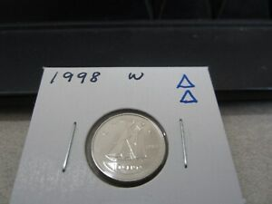 1998 W   BRILLIANT UNCIRCULATED   CANADIAN DIME   CANADA 10 CENTS