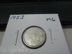 1953   CANADA DIME   SILVER CANADIAN 10 CENT