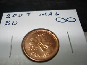 2007   MAGNETIC   CANADIAN PENNY   CANADA ONE CENT   BRILLIANT UNCIRCULATED