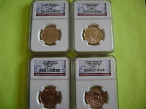 2007 D PRESIDENTIAL NGC SMS MS67 SATIN FINISH 4 COIN DOLLAR SET