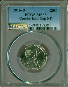 Click now to see the BUY IT NOW Price! 2016 D CUMBERLAND GAP QUARTER PCGS MAC MS 68 PQ FINEST GRADE  SPOTLESS .