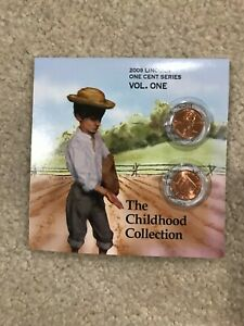 2009 LINCOLN ONE CENT SERIES   2 COIN SETS   VOLUME 1 THE CHILDHOOD COLLECTION