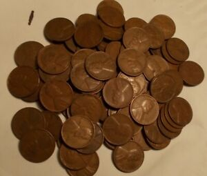2 ROLLS WHEAT PENNIES 1940 1949 P D & S MINTS 100 LINCOLN WHEAT CENTS