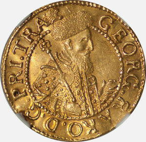 Click now to see the BUY IT NOW Price! TRANSYLVANIA 1646 AI GEORG I RAKOCZI GOLD DUCAT NGC MS 61
