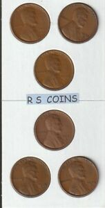 1934 THRU 1939 D   &   1935 THRU 1939 S  >FINE TO VF<  11 PC LINCOLN CENT SET
