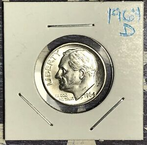 1964 D ROOSEVELT SILVER DIME. COLLECTOR COIN FOR YOUR SET OR COLLECTION.