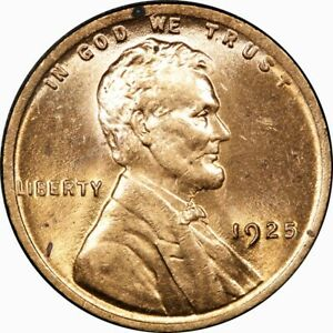 1925 1C LINCOLN WHEAT CENT MS BU UNC  RD RED  OLD TYPE COIN PENNY