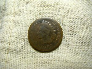 OLD VINTAGE  US 1887 INDIAN HEAD PENNY  COMBINED SHIPPING  9648