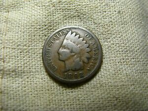OLD VINTAGE  US 1892 INDIAN HEAD PENNY  COMBINED SHIPPING  9650
