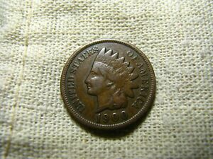 OLD VINTAGE  US 1900 INDIAN HEAD PENNY  COMBINED SHIPPING  9666