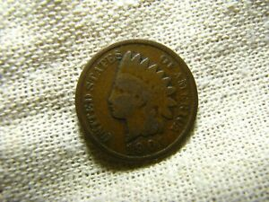 OLD VINTAGE  US 1901 INDIAN HEAD PENNY  COMBINED SHIPPING  9668