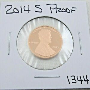 2014 S GEM PROOF DEEP CAMEO LINCOLN SHIELD CENT/PENNY  1344
