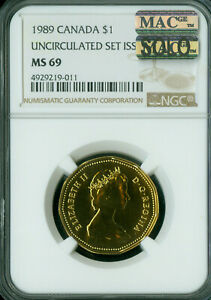 Click now to see the BUY IT NOW Price! 1989 CANADA LOON DOLLAR NGC MS 69 PQ MAC SOLO FINEST GRADE SPOTLESS .