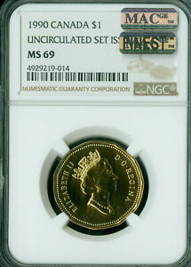 Click now to see the BUY IT NOW Price! 1990 CANADA LOON DOLLAR NGC MAC MS 69 PQ FINEST GRADE SPOTLESS .
