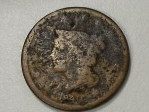 CLASSIC U.S. COIN    1840 LARGE CENT 423
