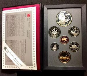 CANADA 1995 DOUBLE DOLLAR PROOF SET FEATURING HBC 325TH DOLLAR. H211