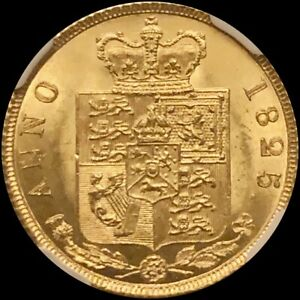 Click now to see the BUY IT NOW Price! 1825 GOLD HALF SOVEREIGN NGC MS64
