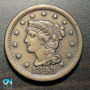 1848 BRAIDED HAIR LARGE CENT     MAKE US AN OFFER   P1822