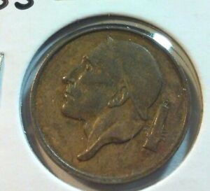 1955 BELGIUM  50 CENTIMES COIN    KM148.1   IN5732