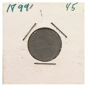 ANTIQUE PENNY US COIN INDIAN HEAD 1899 ONE CENT