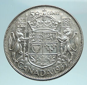Click now to see the BUY IT NOW Price! 1953 CANADA UNDER QUEEN ELIZABETH II SILVER 50 CENTS CANADIAN COIN ARMS I79561