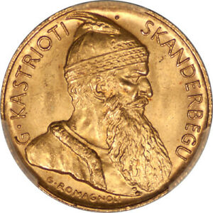 Click now to see the BUY IT NOW Price! ALBANIA 1927 V GOLD 20 FRANGA PCGS MS 65 MINTAGE   5053