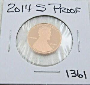 2014 S GEM PROOF DEEP CAMEO LINCOLN SHIELD CENT/PENNY  1361