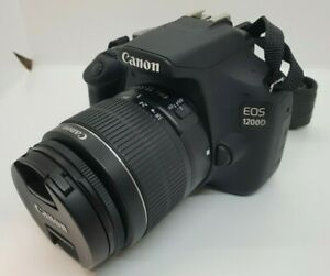 CANON EOS 1200D DSLR CAMERA WITH 18 55MM KIT LENS AND CAMERA BAG