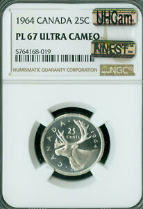 Click now to see the BUY IT NOW Price! 1964 CANADA 25 CENTS NGC PL67 UHCAM MAC FINEST GRADE MAC SPOTLESS .