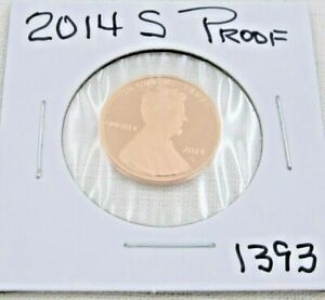 2014 S GEM PROOF DEEP CAMEO LINCOLN SHIELD CENT/PENNY  1393