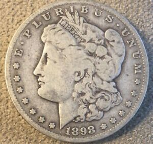 1898 S MORGAN SILVER DOLLAR FINE CONDITION NICE COIN