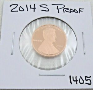 2014 S GEM PROOF DEEP CAMEO LINCOLN SHIELD CENT/PENNY  1405