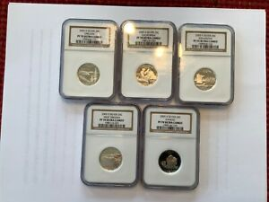 Click now to see the BUY IT NOW Price! 2005 S SILVER PROOF QUARTERS PF70 UC OREGON CA WEST VIRGINIA KANSAS MINNESOTA