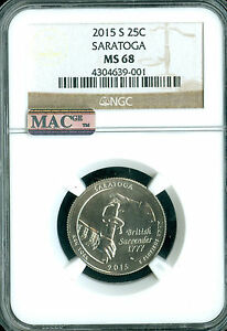 Click now to see the BUY IT NOW Price! 2015 S SARATOGA QUARTER NGC MAC MS68 PQ FINEST GRADE POP 14 SPOTLESS .