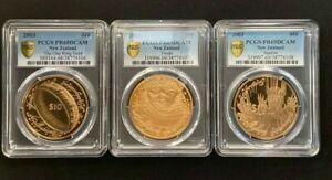 Click now to see the BUY IT NOW Price! NEW ZEALAND  2003   GOLD $10   LORD OF THE RINGS COIN SET OF 3 PCGS PR69DCAM  2