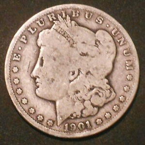 1901 O $1 MORGAN SILVER DOLLAR.