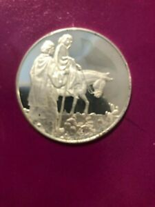 JOSEPH & MARY CHRISTMAS COMMEMORATIVE COIN PROOF