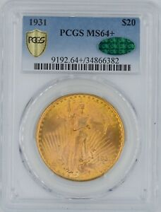 Click now to see the BUY IT NOW Price! 1931 $20 GOLD SAINT GAUDENS MS 64   CAC PCGS WOW