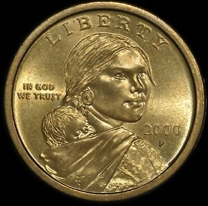 2000 P $1 WOUNDED SPEARED EAGLE SACAGAWEA ERROR VARIETY  FS 901  HIGH GRADE