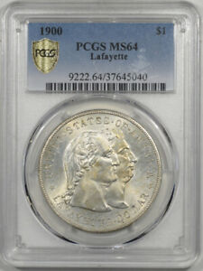 Click now to see the BUY IT NOW Price! 1900 $1 LAFAYETTE COMMEMORATIVE PCGS MS 64 FLASHY ORIGINAL