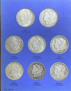 Click now to see the BUY IT NOW Price! 1891 TO 1897 MORGAN DOLLAR COINS COMPLETE BLUE BOOK SET INCLUDING ALL KEY DATES