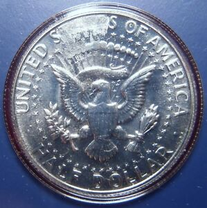 1966 UNITED STATES SMS STRUCK THROUGH GREASE MINT ERROR ON SILVER HALF DOLLAR
