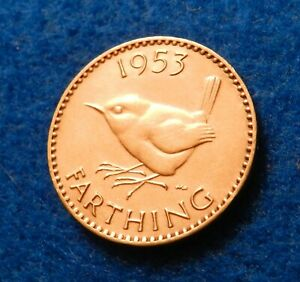 1953 GREAT BRITAIN FARTHING   NICE COIN   SEE PICS