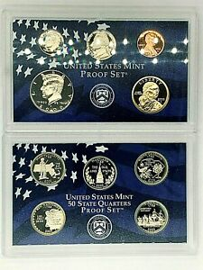 2000 UNITED STATES PROOF SET WITH 5 STATE QUARTERS UNCIRCULATED MINT BOX