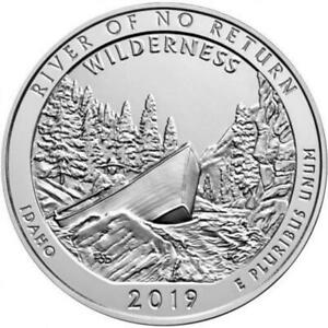 2019 RIVER OF NO RETURN WILDERNESS 5 OZ SILVER COIN   AMERICA THE BEAUTIFUL
