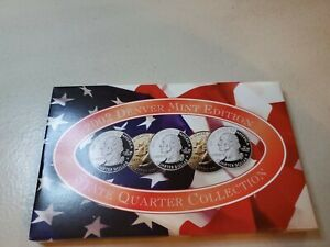 2002 D DENVER MINT EDITION STATE QUARTER COLLECTION 5 PC  TENNESSEE OHIO INDIANA