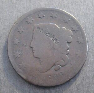 1829  LARGE CENT       CORONET HEAD  1816 39       P1463