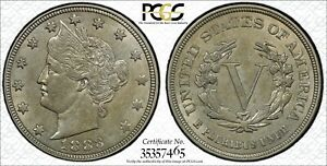 Click now to see the BUY IT NOW Price! 1883 NO CENTS LIBERTY HEAD V NICKEL 5C PCGS AU 55 GOLD SHIELD WITH TRUEVIEW